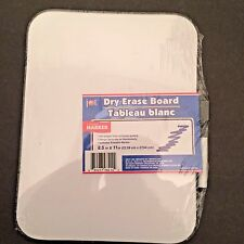 "Dry Erase White board School /Home use size 8.5 x 11"" with marker, 2.for 1"