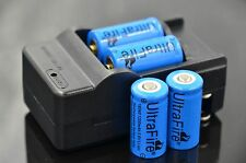4 x Ultrafire 1200mah 16340 CR123A Rechargeable li-ion Battery + Travel Charger