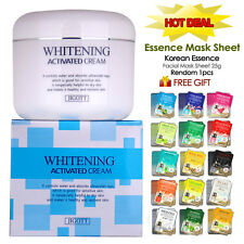 New Whitening Cream 100ml + Korean Essence Mask Skin Care Free Gift