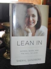 Lean In ~ Women, Work, and the Will to Lead by Sheryl Sandberg 2012 HC DJ