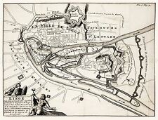 MAP ANTIQUE 1703 AMSTERDAM MORTIER LIEGE CITY PLAN REPLICA POSTER PRINT PAM1631
