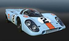 1969 Porsche 917K Group 6  WSC Le Mans Vintage Classic Race Car Photo (CA-0930)