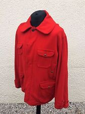 Vintage 1950's Woolrich American Red Wool Hunting Bushcraft Chore Coat 48""