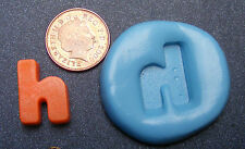 "Reusable Letter ""H"" Silicone Food Safe Mould, Mold, Sugarcraft, Jewellery, Cake"