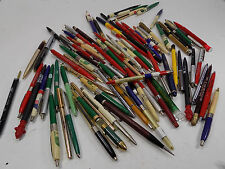 LOT OF VINTAGE ADVERTISING INK PENS MECHANICAL PENCILS GAS OIL MORE SEE PICS