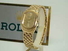 ROLEX WOMEN's 18K YELLOW GOLD CELLINI CELLISSIMA 6631 QUARTZ WATCH NEAR MINT