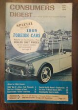 Consumer's Digest MAR APR 1969 Special Issue Foreign Cars