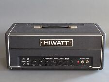 HIWATT Vintage 1976 Custom 50 DR504 Guitar Amplifier Head Hand Wired Mullard