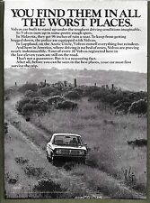 1970 VOLVO VINTAGE PRINT AD - YOU FIND THEM IN ALL THE WORST PLACES