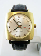 Gold HAMILTON FMC Mens THIN-O-Matic Watch c.1970s Cal 623* EXLNT SERVICED