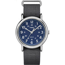 Timex Unisex Weekender Rip-Stop | Gray Strap Silver-Tone Case | Watch TW2P65700