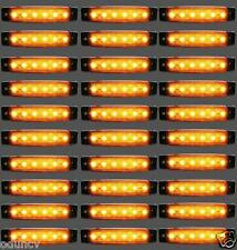 30 pcs 24V 6 LED Side Marker Orange Amber Lights for Truck Mercedes Ford Renault