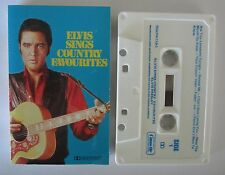 ELVIS PRESLEY SINGS COUNTRY FAVOURITES CASSETTE TAPE
