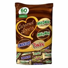 MARS Chocolate Caramel Lovers Fun Size Candy Bars Variety Mix 37.7-Ounce 60- VGF