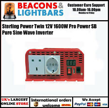 Sterling Power Twin 12V 1600W Pro Power SB Pure Sine Wave Inverter PN: SIB121600
