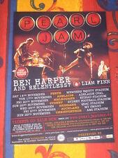 PEARL JAM   -   BACKSPACER  AUSTRALIAN  TOUR  -  PROMO TOUR POSTER