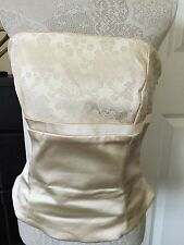 COAST Gold Satin Strapless Top Size 14