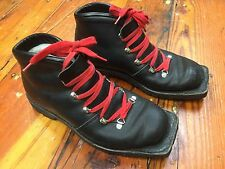Vintage Black Norrona Norway Nordic Norm Cross Country Boots US Women's 7.5
