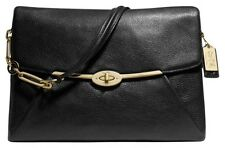 FREE SHIPPING! COACH 26223 MADISON LEATHER BAG, BLACK Retail 498, not factory