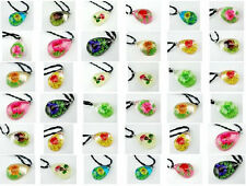 12pcs mix style real flower grass mini drop wholesale pendant&necklace free ship