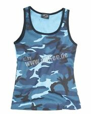 Tank Top Woman 3-Color Skyblue Woodland Camo US Army Gr L Sommertop Hemd