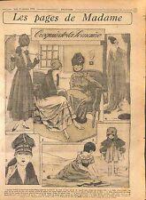 Tailleur Bure Vert Sapin Jaquette Renard Croquis Mode Paris Fashion WWI 1916