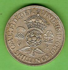 1939 GREAT BRITAIN  SILVER  FLORIN TWO SHILLING COIN
