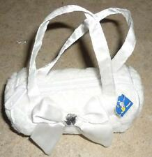 White,Quilted,Jelly-Roll Style Purse/Tote for American Model 22 in Doll