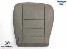 2009 Ford F250 Lariat -Passenger Side Bottom Replacement Leather Seat Cover Gray