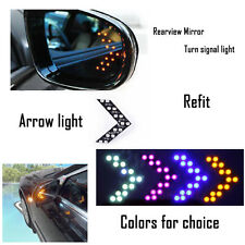 2x Amber 14 SMD LED Arrow Panel Rear View Mirror Turn Signal Indicator Light #01