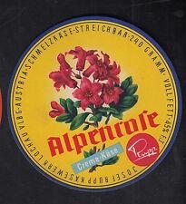 Ancienne  étiquette Fromage  Autriche ?  BN10303 Fleur