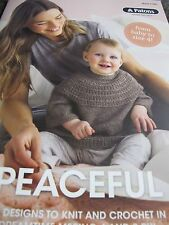 PATONS KNITTING/CROCHET PATTERN BOOK NO 1104,PEACEFUL,NEW FOR 2016,JUST RELEASED