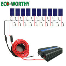 1KW Grid Tie Solar Panel Kits:10x100W Solar Panel & 1000W Inverter & Solar Cable