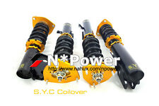 SYC ADJUSTABLE DAMPER COILOVERS F&R SET FOR SUBARU FORESTER AWD WAGON 97-01 SF