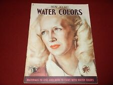 Vintage Large 1950s  : How to do Water Colors 5 by Walter Foster