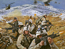 """""""Brothers in Battle"""" Don Stivers Signed Print - Operation Anaconda"""