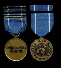 United Nations UN medal with ribbon bar UNTSO Truce Supervision Mission