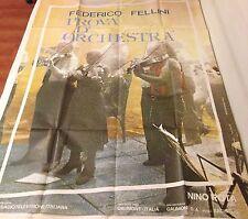 MANIFESTO 4F FEDERICO FELLINI PROVA D'ORCHESTRA