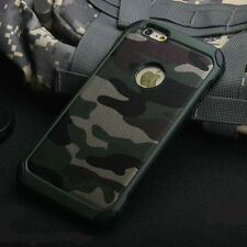 Army Camo Camouflage Hard Bumper Back Soft Case Cover For iPhone 5 5S 6 6S Plus