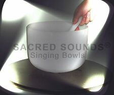 "CRYSTAL SINGING BOWL QUARTZ FROSTED 11"" ROOT CHAKRA NOTE 'C' Brand New Bowls"