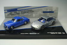 VW Karmann Ghia - Prosche 911 Turbo 1990 - 2010 Minichamps 1:43 NEU OVP