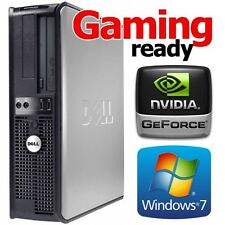 DELL 755 CORE 2 DUO 3.0GHZ WINDOWS 7 WIRELESS HDMI GAMING DESKTOP 8GB RAM 1TB PC