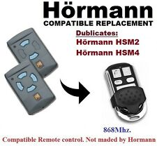 Hormann HSM2, HSM4 868Mhz (Blue Buttons) Remote Control Replacement/Duplicator