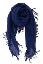 CHAN LUU NEW Pretty Medieval Blue CASHMERE & SILK SOFT SCARF Shawl Wrap