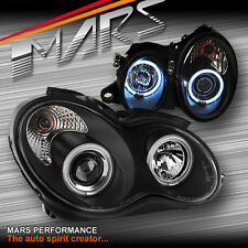 Black CCFL Angel Eyes Head Lights Mercedes-Benz W203 C180 C200 C220 C230 C240
