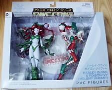 AME COMI HARLEY QUINN POISON IVY HOLIDAY VARIANT ACTION FIGURE SET DC COMICS