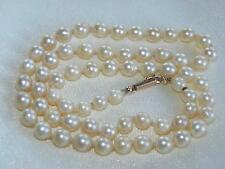 Vintage CULTURED pearls necklace 14ct yellow gold clasp ~ gift idea ~