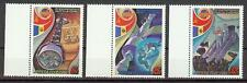 Russia 1981 Sc# 4940-42 set Space programm with Romania Flags MNH