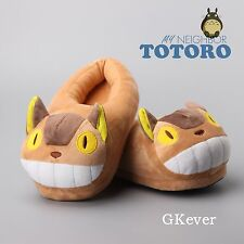 My Neighbor Totoro Cat Bus Soft Plush Slippers Home Warm Anime Shoes Free Size