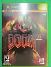 DOOM 3 XBOX Game With Manual. NTSC Live Online Enabled.